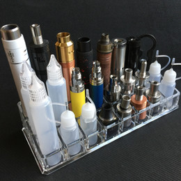 Botellas De Acrílico Transparente Baratos-Clear Acrylic Ecig display Soporte para estante Soporte Base Rack Box Showcase para EGO EVOD Vision Spinner Batería RDA Atomizer Mods Unicorn Bottle
