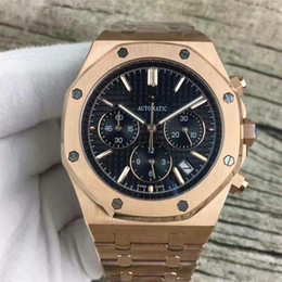 Roses butteRflies online shopping - Famous Luxury Brand Watch Royal Oak Quartz Rose Gold STAINLESS STEEL PVD Chronograph Stopwatch Men Wristwatches Mens Casual Fashion Watches
