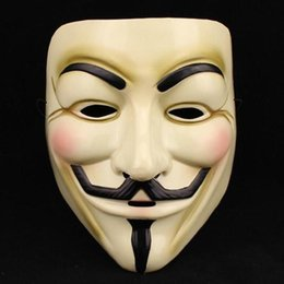 Barato V Para Trajes De Vendetta-Hot Selling Party Masks V para Vendetta Mask Anônimo Guy Fawkes Fantasia Vestido Adulto Costume Accessory Party Cosplay Masks