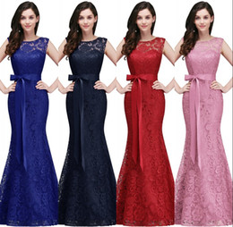 ccd64642931 Royal Blue Mermaid Long Prom Dresses 2018 New Designer Full Lace Elegant  Burgundy Red Formal Evening Gowns Cheap Bridesmaid Dress CPS720