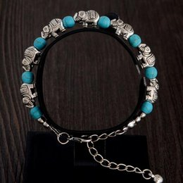 $enCountryForm.capitalKeyWord NZ - 2017 New Bohemia carved turquoise bracelets Handmade beaded The magic of Beaded Strands The anti-fatigue bracelet 20 pcs free shipping