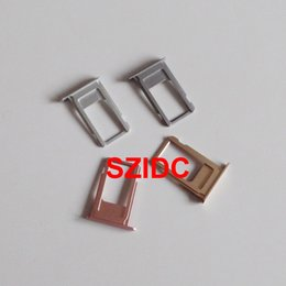 Wholesale Original New Nano Sim Card Tray Slot Holder Replacement Parts For iPhone S Plus quot Gold Gray Siver Rose Gold For Sample order