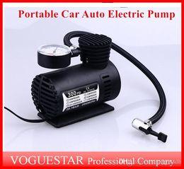 Vente en gros Auto Pompe Électrique Compresseur D'air Mini 12V Voiture Portable Pompe Gonfleur Pneu Gonfleur Outil 300PSI ATP019