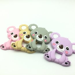 $enCountryForm.capitalKeyWord Canada - 2017 Lot of 16pcs Koala Teething Pendant Teether Necklace BPA Free Baby Chew Toy Animal Koala Teether Cartoon Nursing Jewelry Teether