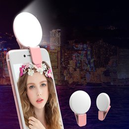 Night photography camera online shopping - Universal LED Light Up Selfie Phone for Self time Fill Light Light Enhancing Camera Night Photography Brightness