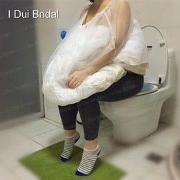 Barato Vestidos Se Reúnem-Bride's Buddy Wedding Dress Reúna a saia Tool One Size Fit All Bridal Petticoat Underskirt Save You From Toilet Water