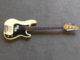$enCountryForm.capitalKeyWord Australia - Custom PRECISION BASS Vintage White Cream 4 Strings Electric Bass Guitar One Piece Maple Neck & Dot Inlay Black Pickguard Chrome Hardware