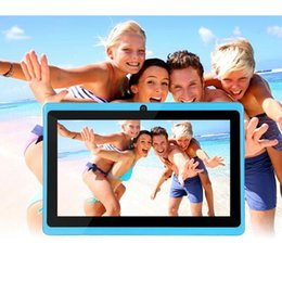 7 Wifi Tablet Australia - 7 inch Q88 Tablet pc Dual camera Android 4.4 A33 7 Inch Tablet PC Quad Core CPU wifi bluetooth tablets 512GB 4GB
