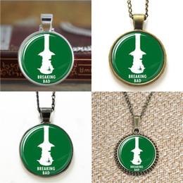 Broken Bad online shopping - 10pcs Breaking Bad Pendant Necklace keyring bookmark cufflink earring bracelet