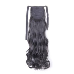 "China I's a 20"" 110g High Temperature Fiber Long Wavy Synthetic Hair Pieces Drawstring Ponytail Extensions for Women cheap drawstring ponytails suppliers"