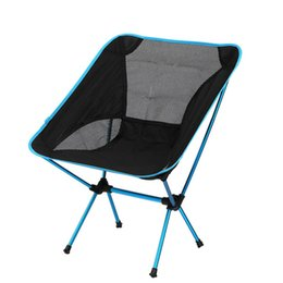 Aluminum Camp Chairs Canada - Wholesale- Singda Brand Ultralight Outdoor Folding Fishing Chair Portable Backrest BBQ Picnic Camping Chair Aluminum Alloy Stool 4 Colors