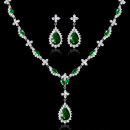 Earrings matching nEcklacEs online shopping - wedding jewelry set all match Necklace high grade temperament direct selling JS100476