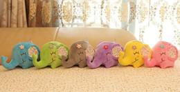 Car window suCker doll online shopping - Super Kawaii BIG Floral Elephant CM Approx DOLL Plush Stuffed TOY DOLL Sucker Car Room Window Pendant Bouquet TOY DOLL