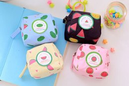 Watermelon Cosmetic Bags Cases Australia - Wholesale- Novelty 4Colors - 2Shapes Watermelon Coin BAG Pouch ; 10CM Girl's Pocket BAG Pouch Case ; Lady's Hand Cosmetics BAG Holder Case