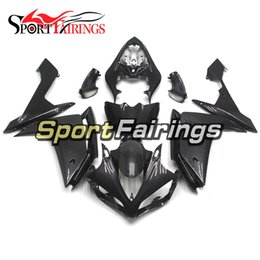 carbon fiber motorcycle fairings NZ - Injection Carbon Fiber Black Fairings For Yamaha YZF1000 YZF R1 2007 2008 Plastics ABS Fairings Motorcycle Fairing Kit Bodywork Cowlings