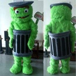 Discount halloween music - OISK Actual Oscar The Grouch cartoon character Mascot Costumes Halloween Carnival Party Fancy Dress For Adult