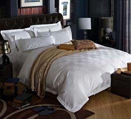 wholesale five stars hotel 100 cotton satin luxury white hotel bed linen bedspreads elegant bedding set duvet cover king queen size