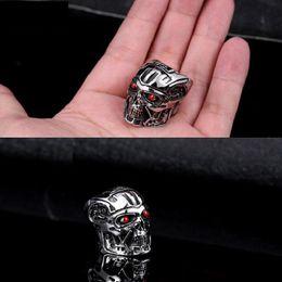 NUEVOS hombres Terminator Ring T800 Arnold Schwarzenegger Anillo Precio de fábrica 316L Acero inoxidable Titanium Jewelry Tamaño EE. UU. 7-13