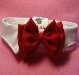 Barato Laço Novo Britânico Do Estilo-New Small Adjustable Dog Bow Tie Neck Tie Cute Pet Cotton Colar de estilo britânico para cães pequenos Cats Neck Tie G474
