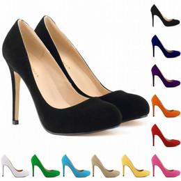 red velvet wedding dresses 2019 - Fashion Sexy Women Shoes Faux Velvet High Heels Pointed Corset Style Pumps Work Shoes Us Size 4-11 Eu Size 35-42 D0025 c