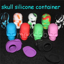 $enCountryForm.capitalKeyWord NZ - Skull Shape 15ml silicone jar Non-stick Silicone Container food grade silicone customized small dab wax container