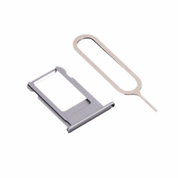 reader apple NZ - New OEM Single SIM Card Tray Holder Slot for iPhone 6 6Plus Original SIM Card Reader Replacement Part