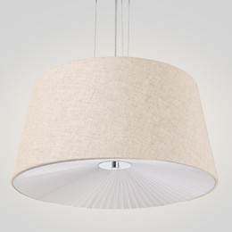 Dining room fabric online shopping - fabric cloth cover pendant lights rural modern suspended hanging light sitting reading living dining room fabric pendant lamp