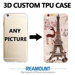 Custom Printed Iphone Cases Australia - DIY Custom Art 3D Print Case Custom-made Company logo Photo Picture Cover Case for iphone 6 for iphone 7 Mobile Phone