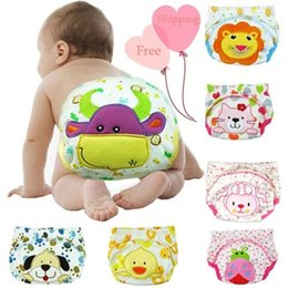 $enCountryForm.capitalKeyWord Canada - Reusable Baby Diapers Cover Cartoon Cotton Super Breathable Cloth Diaper Clothes Nappy Trainning Pants Birth To Potty DHL Free Shipping