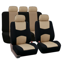 Full Set Housses de siège de voiture Universal Fit Protecteurs de siège de voiture de haute qualité Auto accessoires intérieurs décoration de voiture en Solde