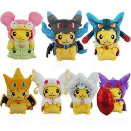 $enCountryForm.capitalKeyWord NZ - 23 cm high quality Kawaii Pikachu Plush Toys Pikachu Cosplay Mega Charizard Psyduck Lucario Eevee Stuffed Animal Dolls Kid Toys birthday Gif
