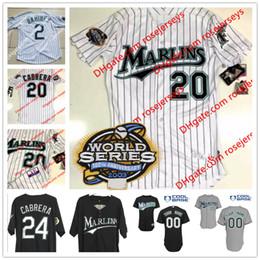 6f27d2631 ... Jerseys Custom Florida Marlins 2003 WS Patch 20 Miguel Cabrera 24 white  gray 7 Ivan Rodriguez 35 ...