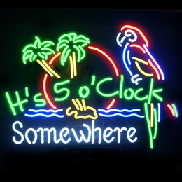 parrot neon beer sign 2020 - Fashion New Handcraft JIMMY BUFFETT PARROT Real Glass Beer Bar Display neon sign 19x15!!!Best Offer!