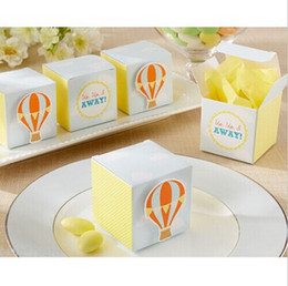 $enCountryForm.capitalKeyWord Canada - Free Shipping Up, Up and Away! Hot Air Balloon Baby Shower Favor Boxes 100pcs