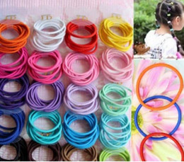 Cintas Para El Pelo Baratos-Mezcla de colores Baby Girl Kids Tiny Hair Bands Corbatas elásticas Ponytail Holder