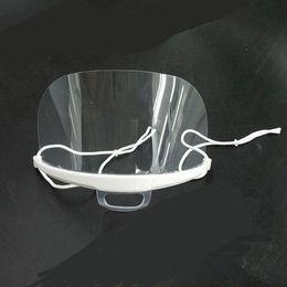 Ingrosso Maschere trasparenti Anti Nebbia Foog Food Hotel Plastic Kitchen Restaurant Masks Anti Dust Mask Maschere di sorriso di plastica 20pcs