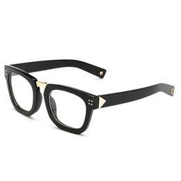 dking vintage horn rimmed wide arms clear lens square glasses frame eyeglasses anti glare quality eyewear women men - Wide Frame Glasses