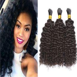 Braiding Hair Human Free Shipping NZ - Curly Human Hair Bulk 8A Cheap Brazilian Hair in Bulk For Braiding Unprocessed Hair Free Shipping