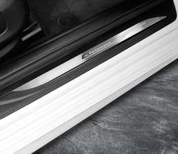 Discount door guard protector for cars - Accessories Welcome pedal Door Sill Scuff Plate Guards Protector cover strips Stickers For BMW F10 F20 F30 F32 F34 F25 X