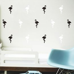 Large decaL stickers online shopping - Wall Sticker Lovely Flamingo Bird Little Animal Water Proof Removable Decal For Room DIY Backdrop Cartoon Art Home Decor qh F R