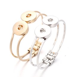 Interchangeable snap jewelry wholesalers online shopping - New Trendy Women Bangles Interchangeable Snap Bracelets Jewelry For mm Snaps Fit Xinnver Snap