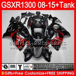 Gsxr fairinG red white online shopping - 8Gifts Colors For SUZUKI Hayabusa GSXR1300 HM11 Stick black GSX R1300 GSXR Fairing Kit