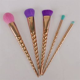 Designer branDs make up online shopping - 5pcs Synthetic Hair Makeup Brush Kit Cosmetic Brushes Tool Brand Designer Professional Eyeshadow Powder Make Up Brush Sets No Logo