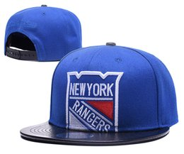 $enCountryForm.capitalKeyWord Canada - Men's New York Islander Blue Top Leather Visor Hockey Snapback Hats Team Logo Embroidery Sports Adjustable NY MN Baseball Caps CAO