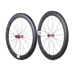 Wholesale EVO carbon road bike wheels 60mm depth 25mm width full carbon clincher tubular wheelset with Straight Pull hubs Customizable LOGO