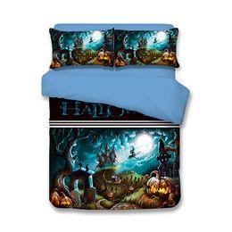 $enCountryForm.capitalKeyWord Canada - Halloween Wizard Castle Grave Pumpkin Lantern Teen Bedding Sets Twin Full Queen King Size Bedspreads Duvet Covers Bed Comforter Pillow Shams