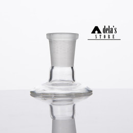 water stand pipe 2019 - Glass Adaptor Stand For Bowl Piece Domes Water Pipe Bongs Adaptors 14mm 18mm Male Female Frosted Joint Dropdow Dab Rig 3