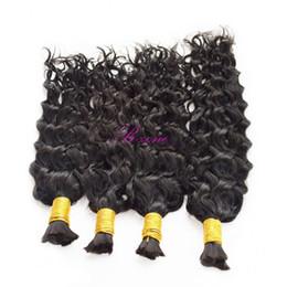 Chinese  Fast shipping Human Hair Bulk No Attachment Cheap Malaysian Wet Wave Hair in Bulk Hair for Braiding No Weft 3 or 4 Bundles manufacturers