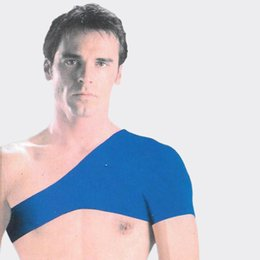 Chinese  Shoulder Pads New Fashion Blue Single High Quality Fabric Pauldron Elastics Good Comfort Movement Back Support Sport Bandage Protector 6yr F manufacturers