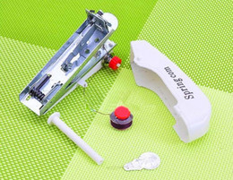 Sports Buttons Canada - Household mini manual sewing machine sewing machine portable pocket-sized portable mini sewing machine Specials